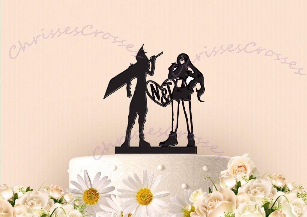 Baseball Bat bride with her Superhero Cake Topper