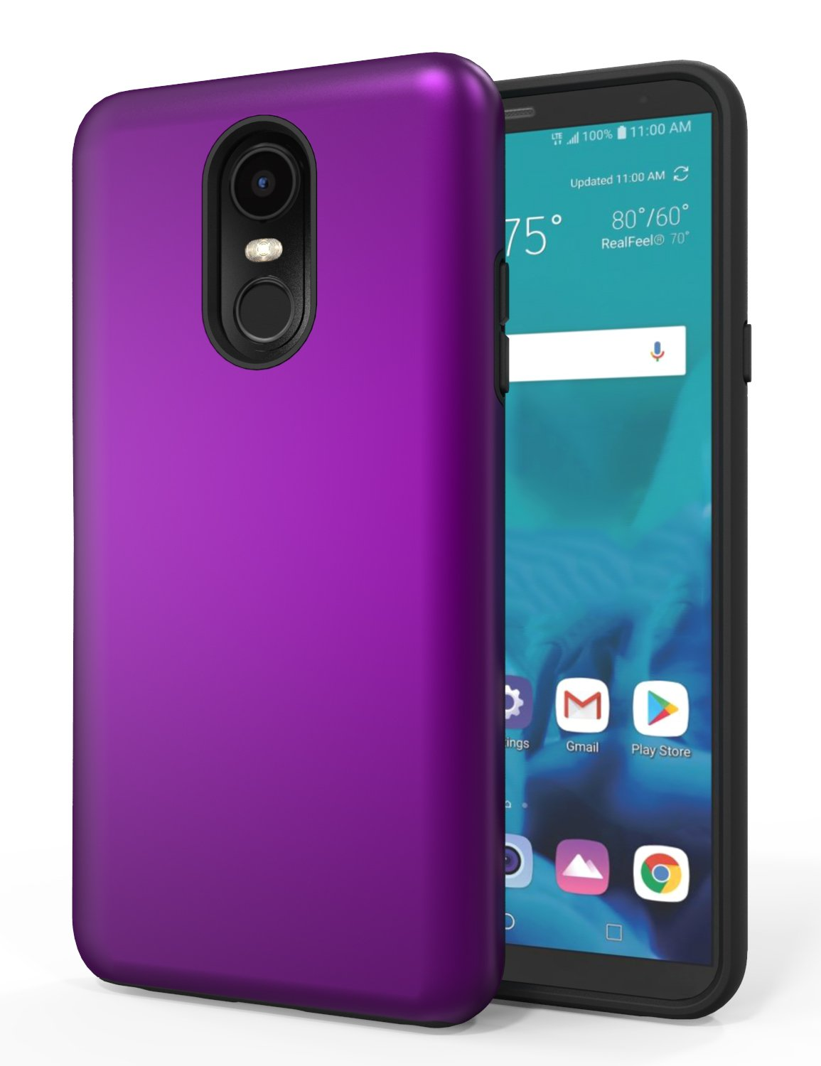 LG Stylo 4 Case,LG Stylo 4 Phone Case,LG Stylo 4 Plus Case,SENON Slim-fit Shockproof Anti-Scratch Anti-Fingerprint Protective Case Cover for LG Stylo 4,Purple