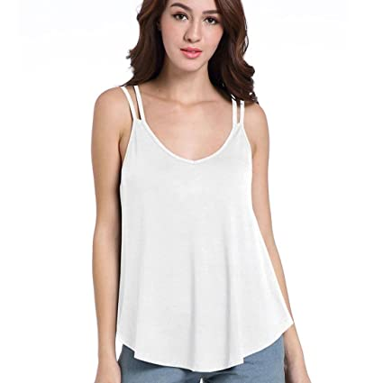 c67bf460ece72 Amazon.com  Forthery Crop Top Hot Sale Women s Basic Solid Camisole ...