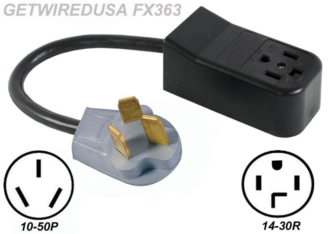 Peachy New Female 14 30R 4 Prong Receptacle To Old Male 10 50P 3 Pin Plug Wiring Cloud Pimpapsuggs Outletorg