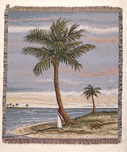 (Simply Home Tropical Palm Tapestry Throw)
