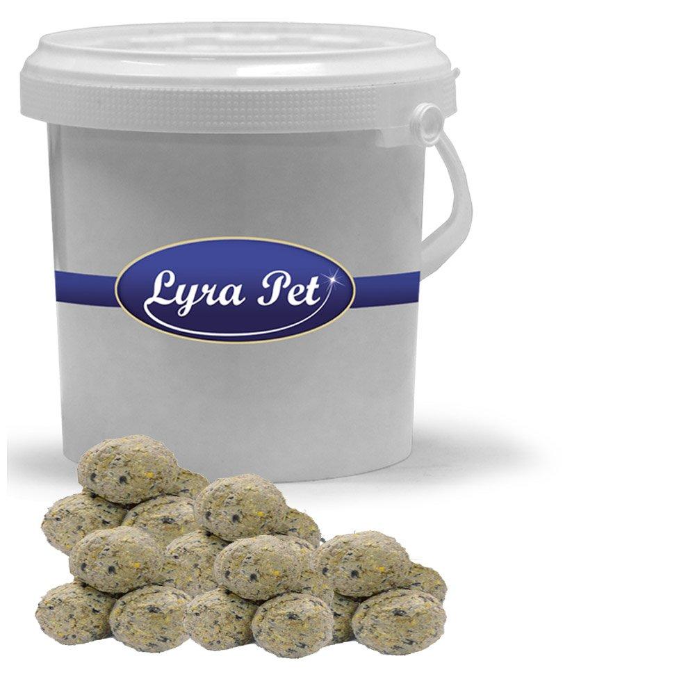Lyra Pet 40 x 90g Meisenknödel Ohne Netz Vogelfutter Knödel im 5 L Eimer Weiss Lyra Pet GmbH