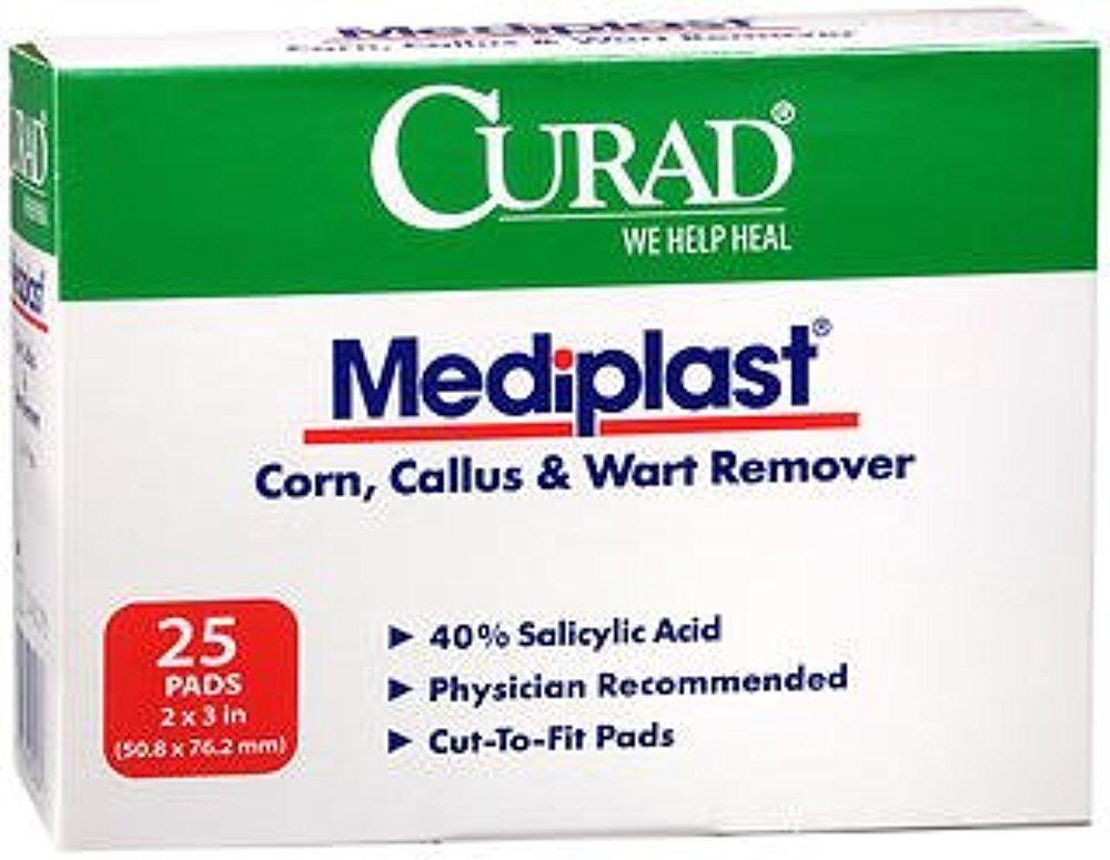 Curad Mediplast Pads 2'' x 3'' 25 ea (Pack of 5)