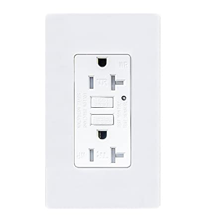 Topele 20amp Gfci Outlet 125 Volt Weather Resistant Receptacle
