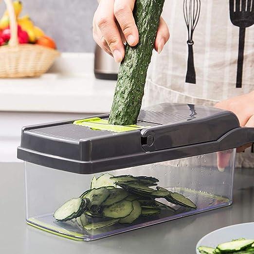 Kitchen Food Egg Vegetable Slicer Slicing Salad Cube Cubes Stainless Steel