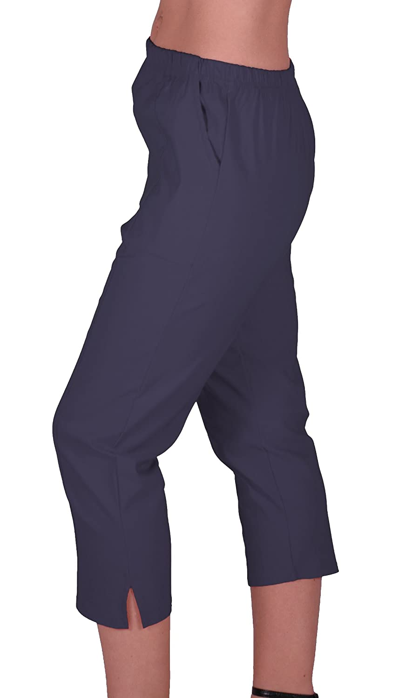 Eyecatch Cora Ladies Stretch Capri Crop Shorts Pedal Pushers Pants Womens 3//4 Cropped Trousers