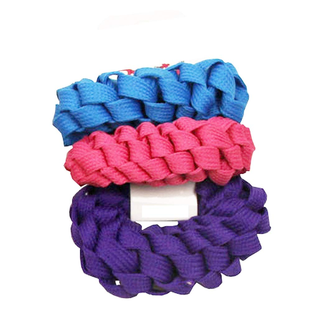Lots 3Pcs Girls elastic hair ties band rope ponytail bracelets scrunchie Gifts