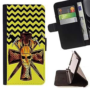 King Case - FOR Apple Iphone 5C - Give people a chance - Prima caja de la PU billetera de cuero con ranuras para tarjetas, efectivo Compartimiento desmontable y correa para la mu?eca