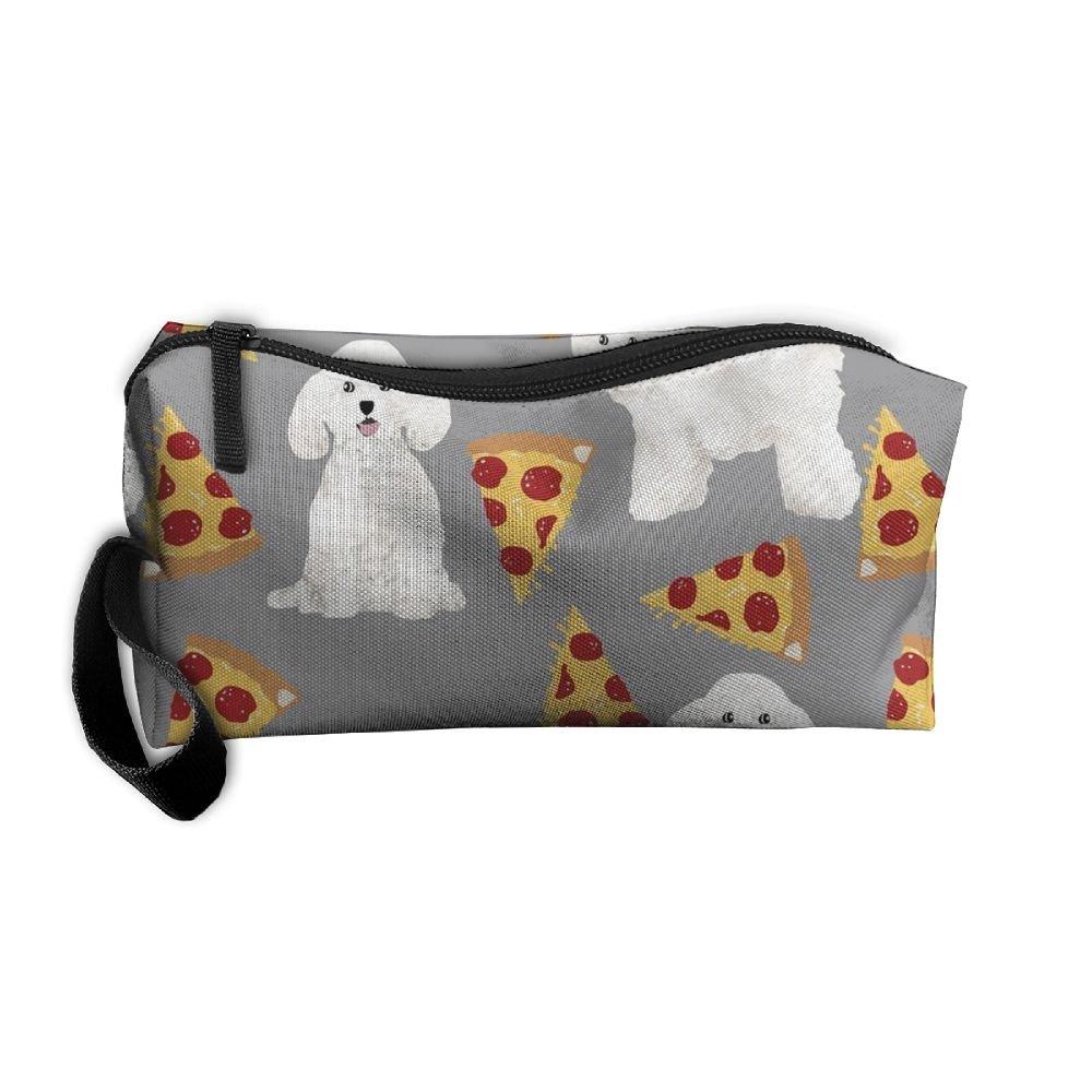 Bichon Frise Pizza bag-portable de aseo Viaje Organizador de ...