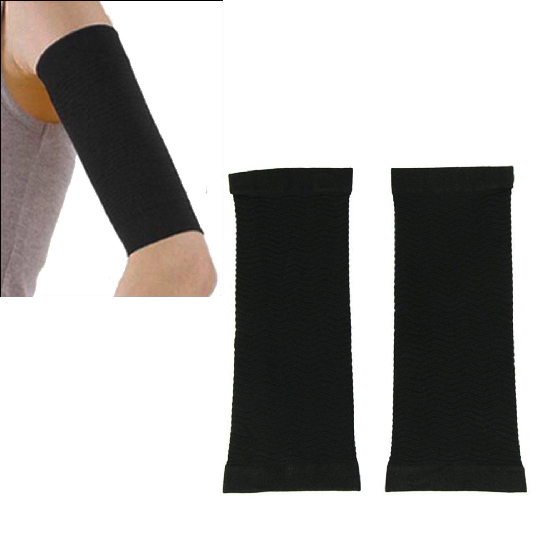 1 par adelgazar brazo caloría de quema de grasa, celulitis Buster quemador delgado brazo muñeca Shaper Shapewear correa Correa para mujeres Lady Black: ...