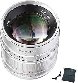 Black 7artisans 55mm F1.4 APS-C Manual Fixed Lens f/ür Fuji X Mount Cameras Like X-A1 X-A10 X-A2 X-A3 X-at X-M1 XM2 X-T1 X-T10 X-T2 X-T20 X-Pro1 X-Pro2 X-E1 X-E2 X-E2s