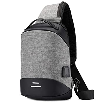 MERRYHE Sling Bag Chest Pack Crossbody Mochilas Mochilas Multiusos Spots Triangle Mochila Travel Outdoors Bolsas De Ciclismo para Unisex,Grey-22 * 10 ...