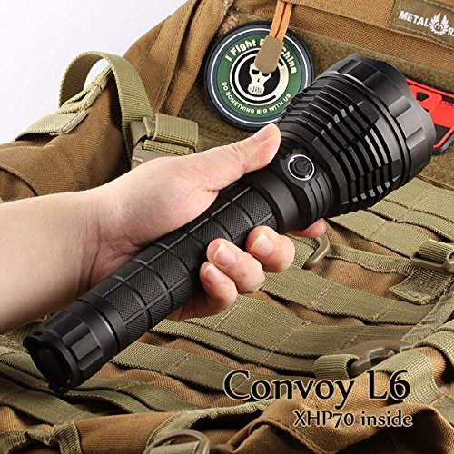 Convoy L6 XHP70 3800LM Super Bright Long Range LED Flashlight (Design N4-5C) by LEEPRA (Image #5)