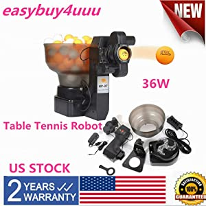 LOYALHEARTDY19 Table Tennis Ball Machine,Athlete Table Tennis Training Machine Automatic Serving Robot 36W 100PC Ping Pong Robots Ball Professional Hp-07 Us Ship