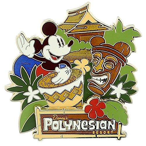 Disney Park Exclusive Polynesian Resort Hotel Tiki Pin