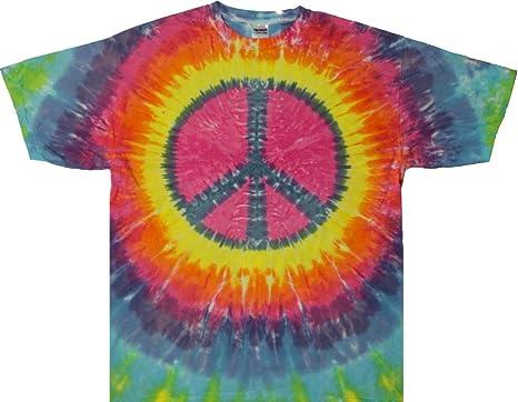 7b672db1899 Tie Dyed Shop Peace Sign Tie Dye T Shirt- Pastel Colors -Shortsleeve-2X