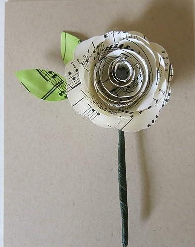 Amazon Sheet Music Boutonniere Groom Buttonhole Paper Flower