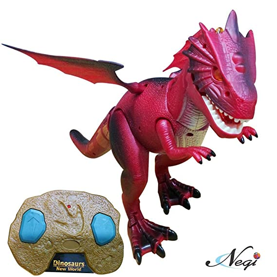 Negi Battery Operated Flap Wing Remote Control 20.8inch Walking Dinosaur with Led Lights and Sounds( Color May Vary) Any One