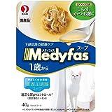 メディファス スープパウチ 1歳から成猫用 しらす・かつお節入り 40g×12コ