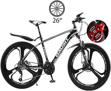 LXDDP Bicicleta montaña, 26 Marco Aluminio Bicicleta Horquilla Suspensión Bicicleta Velocidad Variable. Ruedas Frenos Doble Disco Ciclismo, Ciclismo Deportivo Carreras al Aire Libre: Amazon.es: Deportes y aire libre