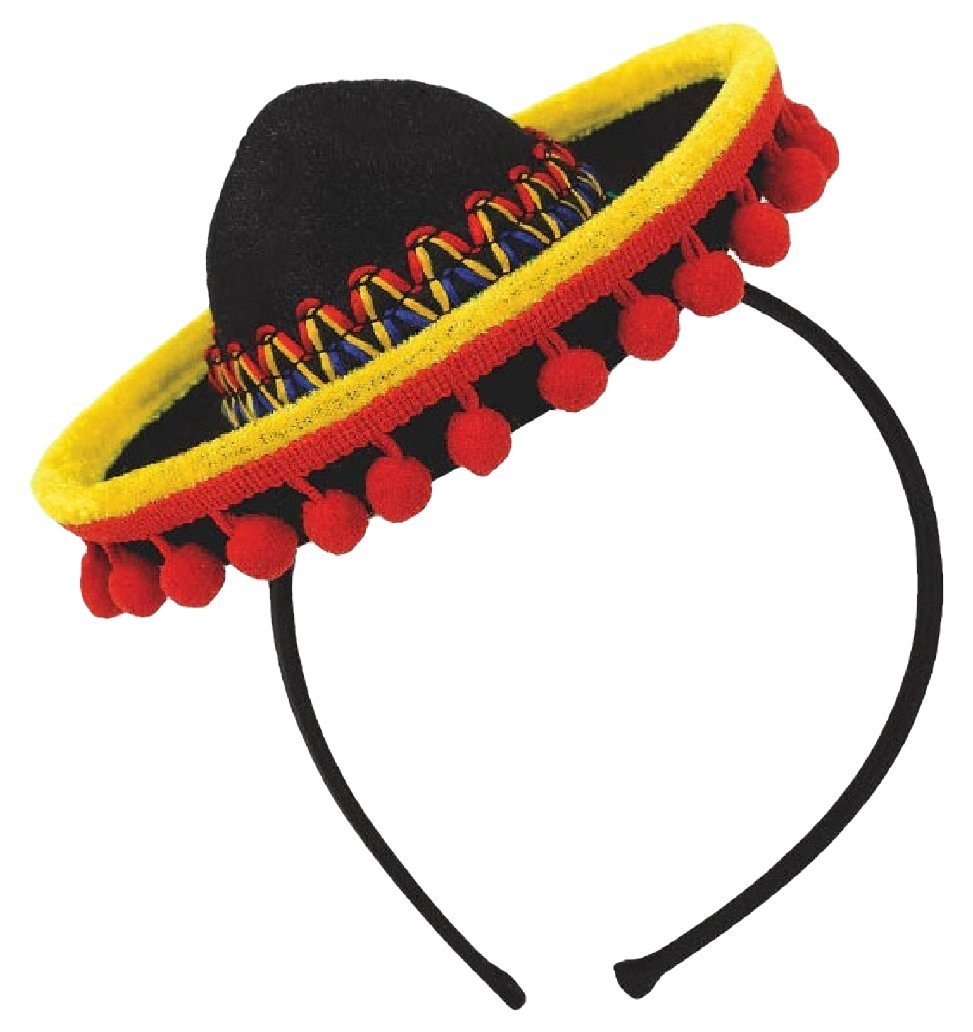 Amscan Cinco De Mayo Fabric Sombrero Headband | Party Costume | 6 Ct.