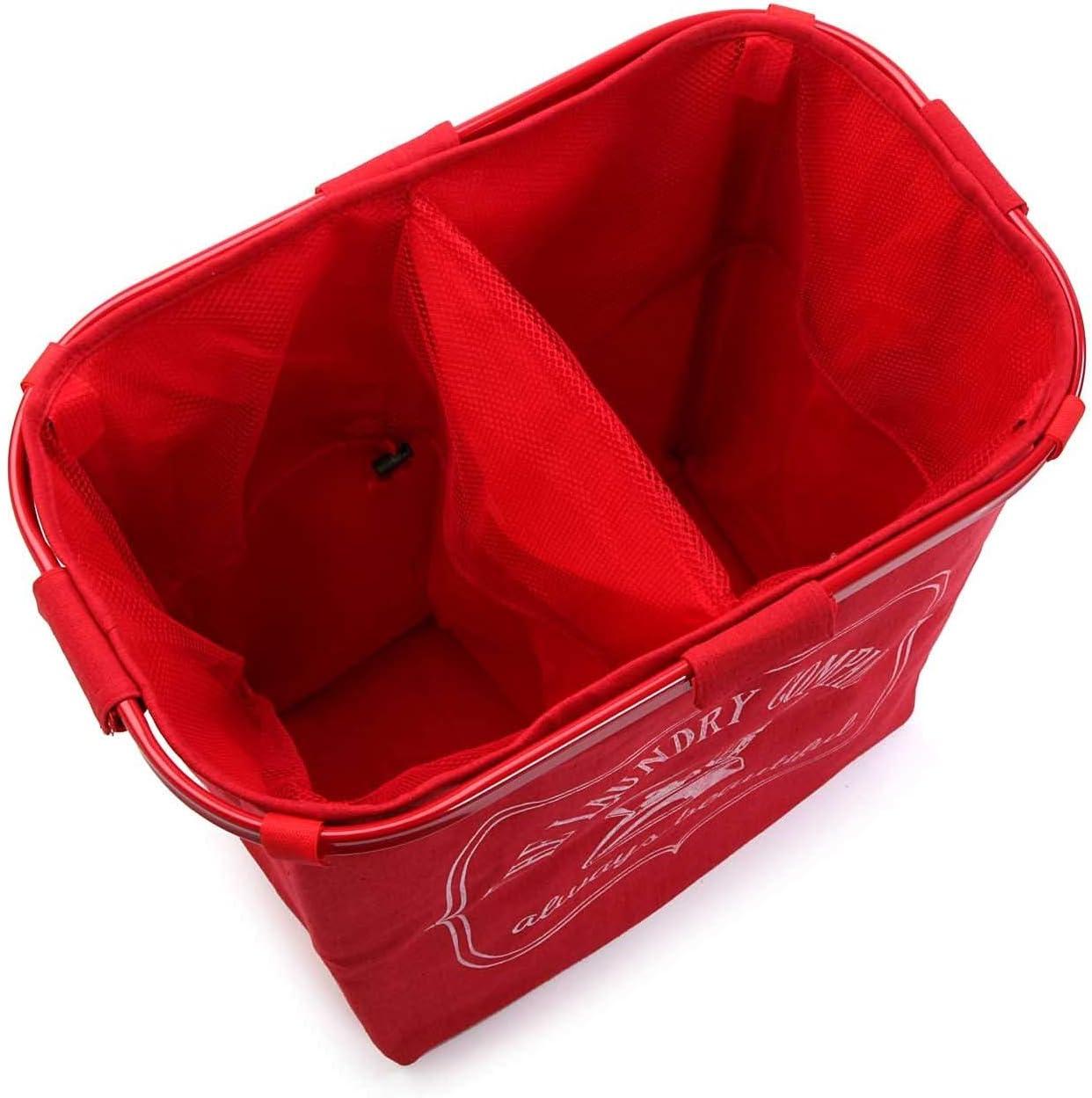 Versa Cesto De Ropa Doble Rojo No Aplica Multicolor