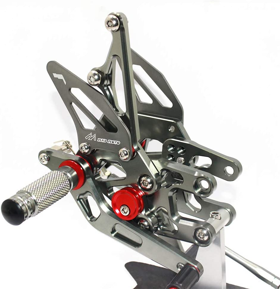 Rearsets Rear Sets Footpegs CNC Adjustable For Kawasaki ZX10R 2004 2005