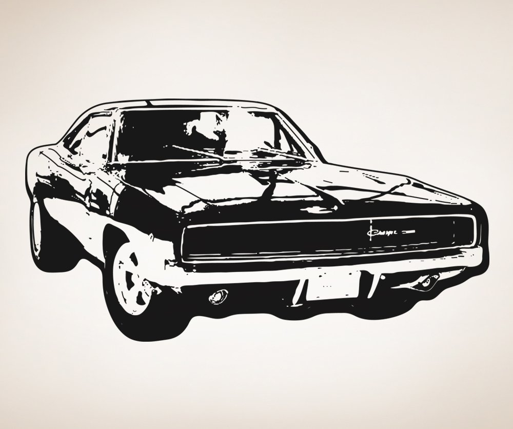 Amazon.com: Stickerbrand American Muscle Car Wall Decal Large Size 42in  Tall X 80in (BLACK) Wide #OS_AA125B: Home U0026 Kitchen