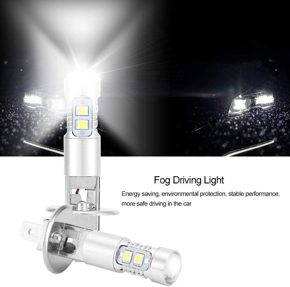 2x Car Fog Lamp Daylight H1 6000K Bumper Lamps Super White 100W LED Headlight Bulbs Kit Fog Driving Light
