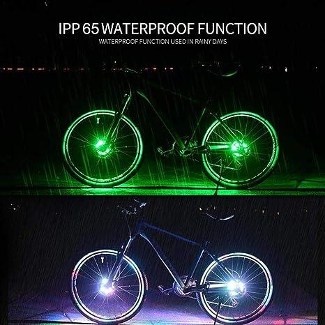 Destinely Luces de cubo de rueda de bicicleta Recargable por USB ...