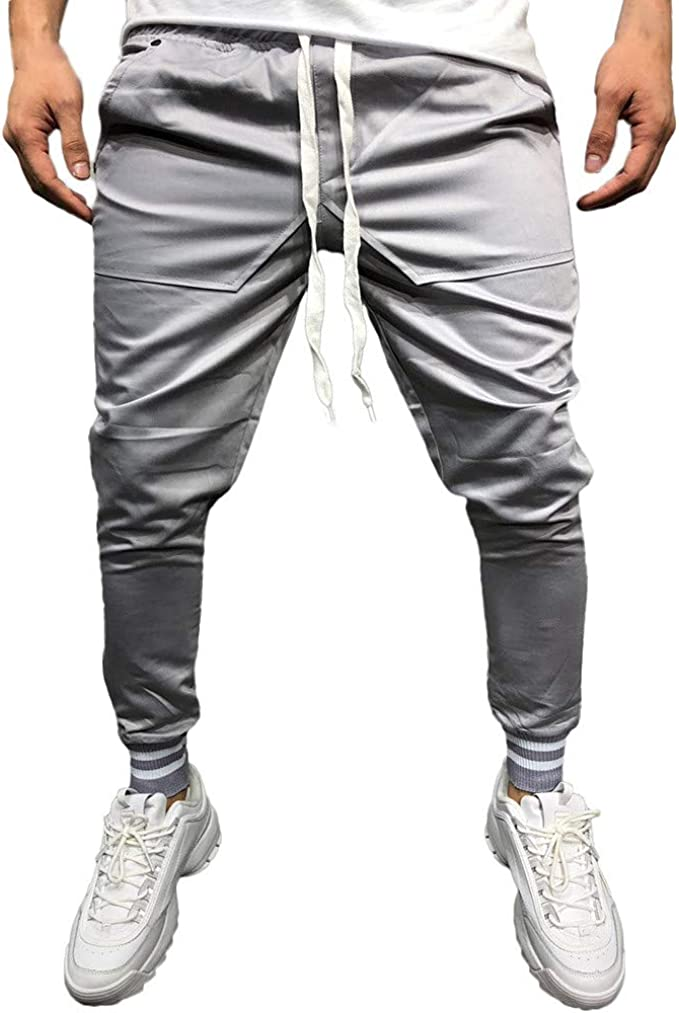 MOVERV Hombre Pantalón Chándal Joggers Pantalones para Deporte ...
