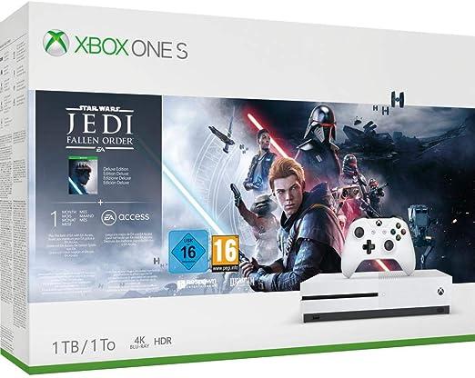 Microsoft - Consola 1 TB, Mando Inalámbrico + Star Wars Jedi: Fallen Order (Xbox One S): Microsoft: Amazon.es: Videojuegos