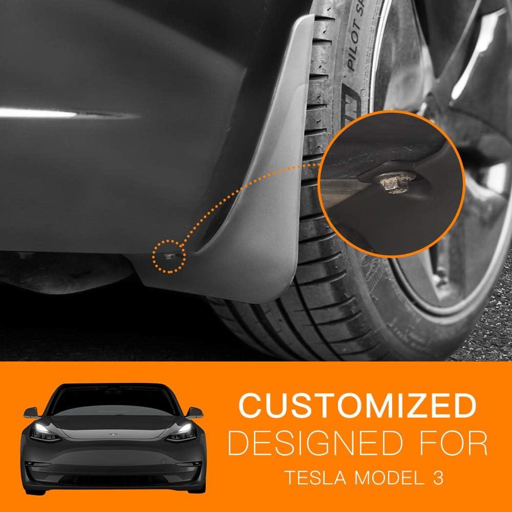 No Punching Fit Tesla Model 3 Mud Flaps Splash Guards Fender Front Rear Flaps Tesla Model 3 Accessories Set of 4