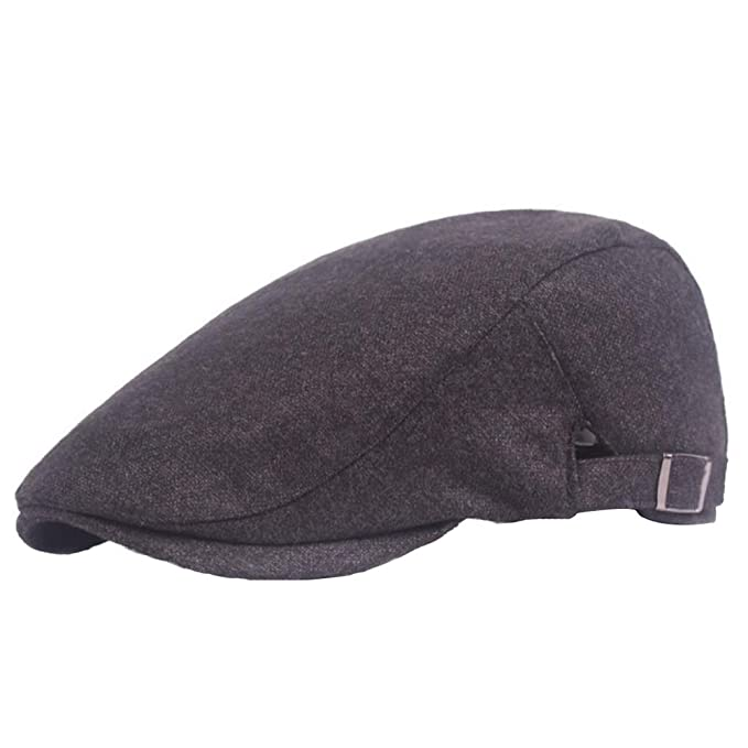 Grey WeiMay Outdoor Men Women Vintage Beret Baseball Cap Camouflage Cap Breathable Sun Hat with Adjustable Chin Strap