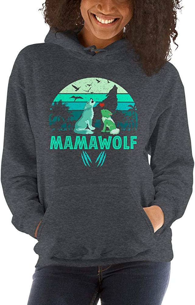 Vintage Wolf Mother Unisex Hoodie Mamawolf lucoin