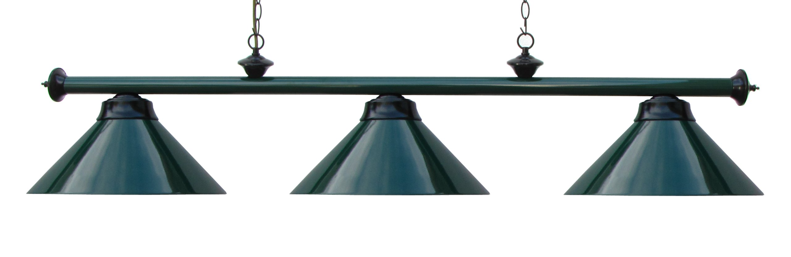 59'' Metal Pool Table Light Billiard Lamp Green Burgundy or Black for 7 or 8 ' Foot Tables (Green)
