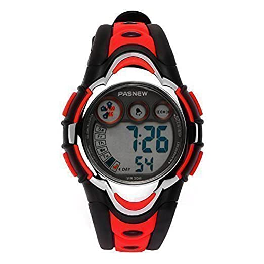 Hiwatch Relojes Deportivos Impermeable para los Niños/Niñas Reloj de Pulsera Digital a Prueba de Agua Infantiles Rojo: Amazon.es: Relojes
