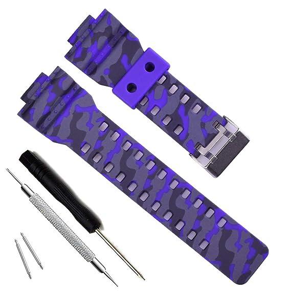 Natural Resina Watch Reemplazo Banda Correa para CASIO para Hombre G Shock GD120GA 100GA 110ga 100 C