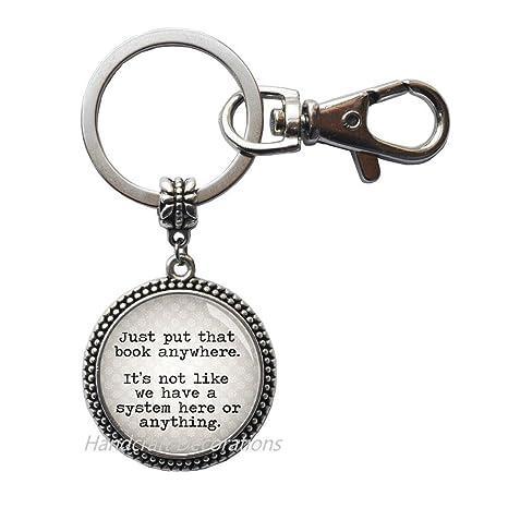 Amazon.com: Llavero de bibliotecario – regalo para ...