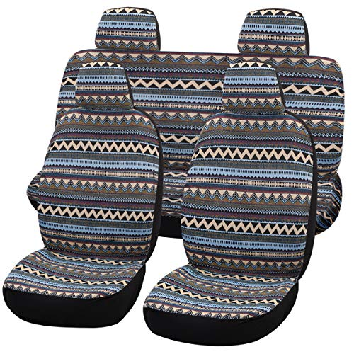 Universal Bohemia Style Delux Baja Blanket Car Seat Covers F