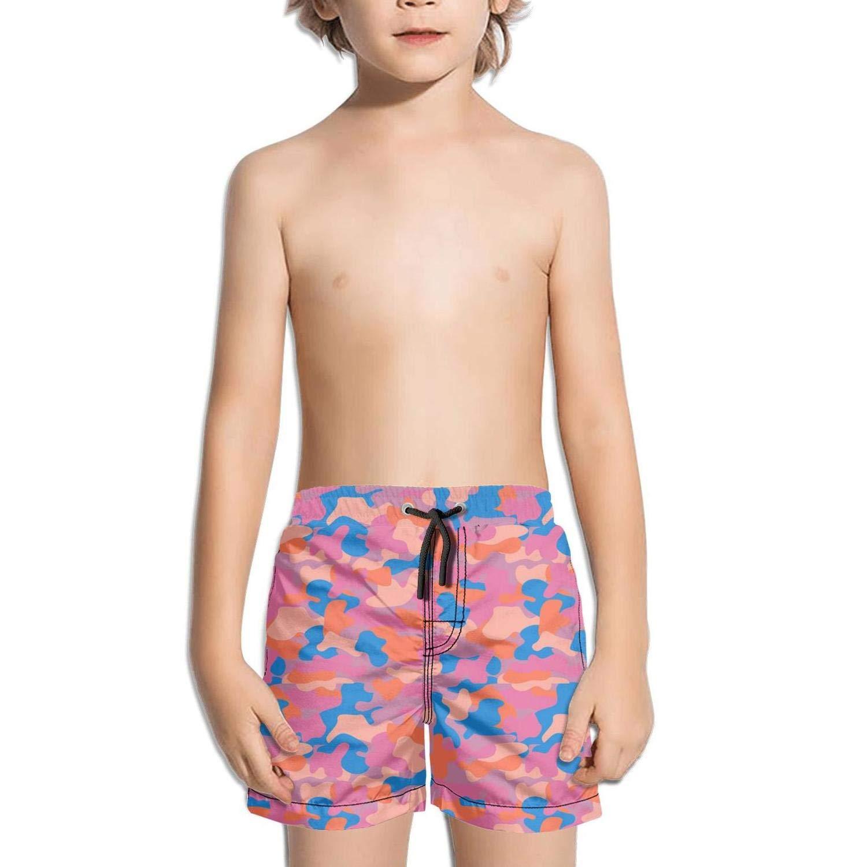 Boys Kids Jungle Pink Digital camo Quick Dry Beach Swim Trunk Funny Swimsuit Beach Shorts with Mesh Lining