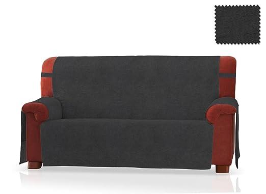JM Textil Cubre sofá Pharma Tamaño 3 plazas (160 Cm.), Color Negro