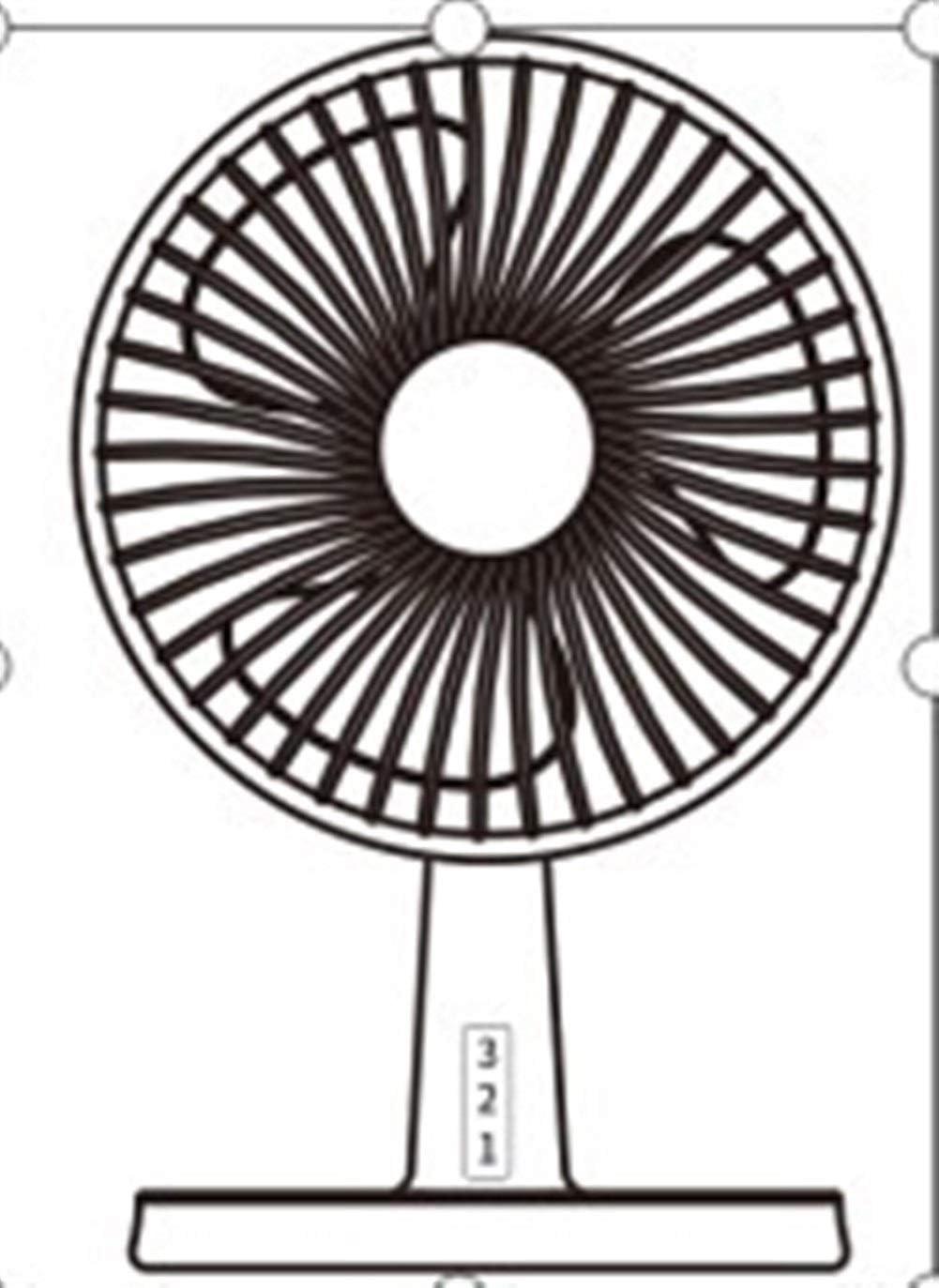 Fan Mini Desktop Fan Night Light Table Fan Adjustable Wind Direction Electric Fan Mini Portable Cooling Fan Size : Black