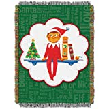 """The Elf on the Shelf Xmas Tradition Woven Tapestry Throw Blanket, 46"""" x 60"""""""