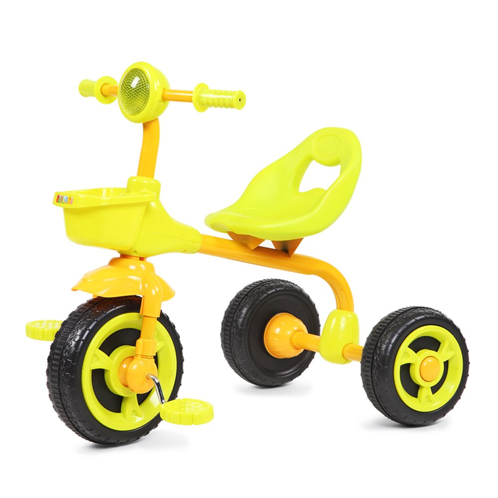 XQ Peso Ligero A Prueba De Golpes Rueda De La Formación De Espuma Niño 1-3 Años De Edad Triciclo Cochecito De Bebé - Amarillo