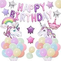 Unicornio Decoraciones Cumpleaños de Fiesta para Niños, Enormes