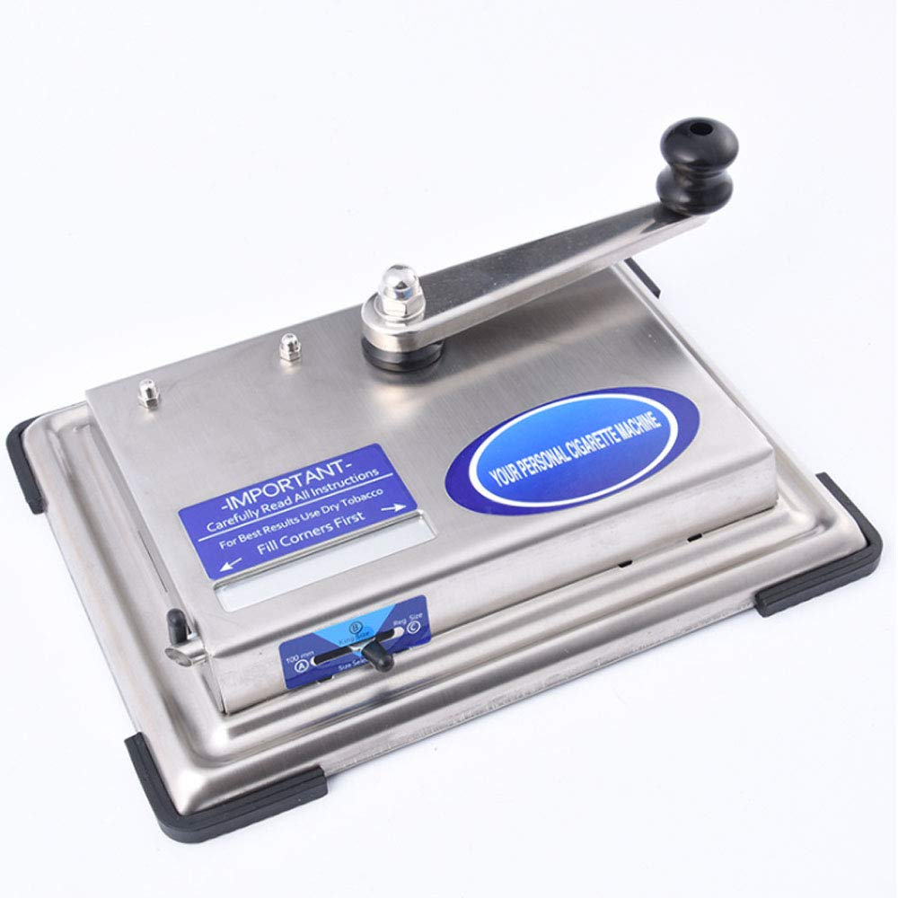 Silver Hand Shake Automatic Cigarette Rolling Machine Tobacco Maker Homemade Home Use Easy to Carry