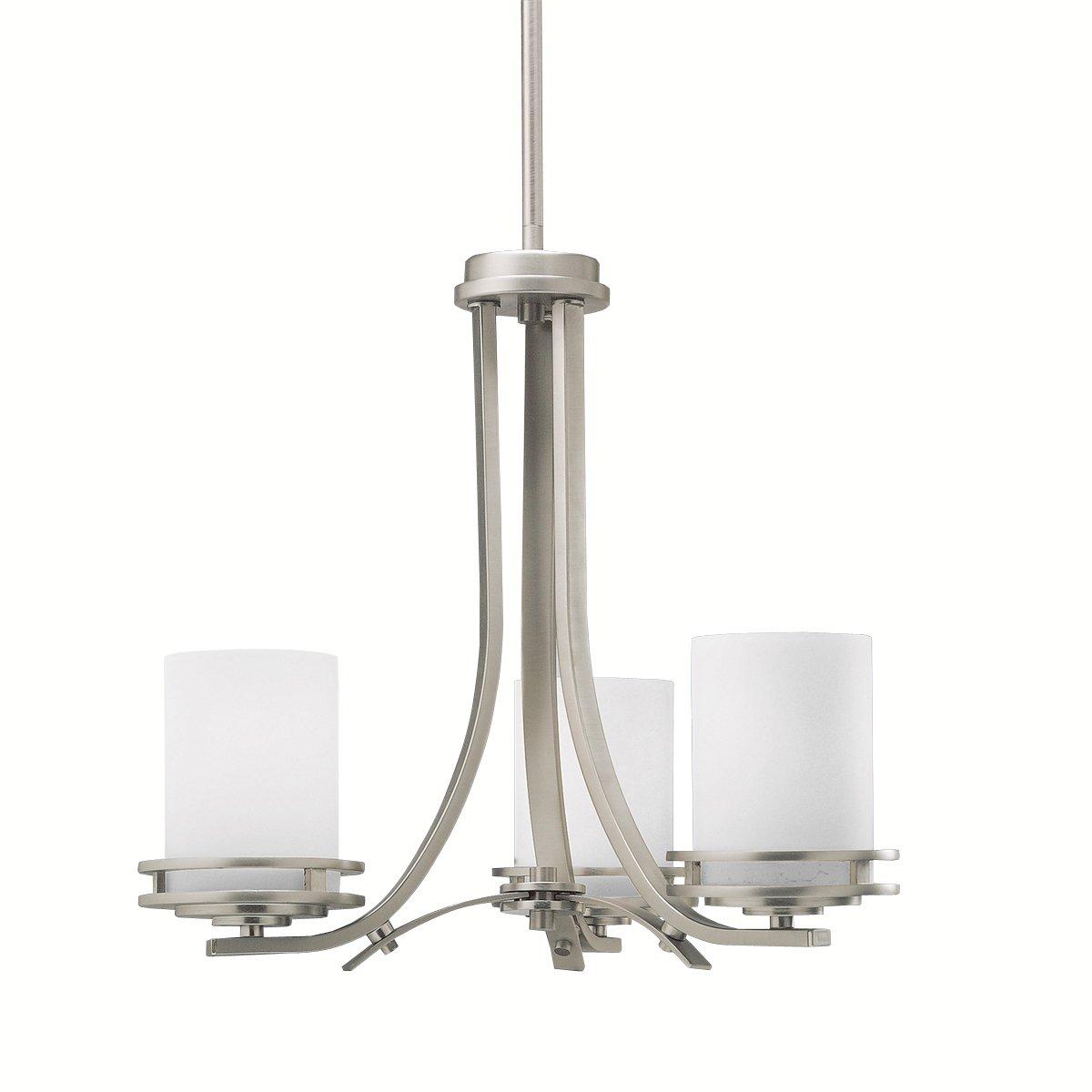 Kichler 1671ni chandelier 3 light brushed nickel chandeliers kichler 1671ni chandelier 3 light brushed nickel chandeliers amazon aloadofball Images