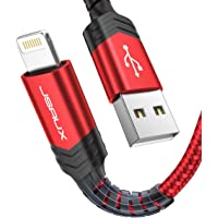 Jsaux 6-Foot MFi Certified Lightning Cable in Red