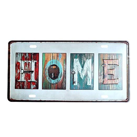 Westeng Publicidad Metálica de Pared Home Decoración Cartel ...